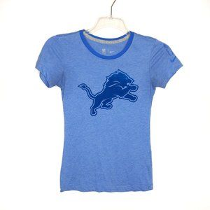 Nike NFL Team Apparel Detroit Lions Shirt Small Bl